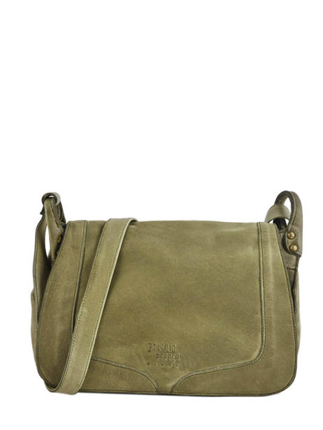Shoulder Bag Cow Leather Basilic pepper Green cow BCOW15