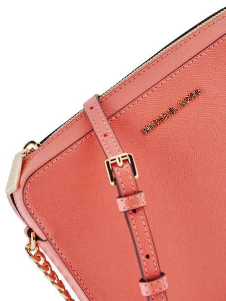 Crossbody Bag Jet Set Travel Leather Michael kors Pink crossbodies S4GTVC3L other view 1