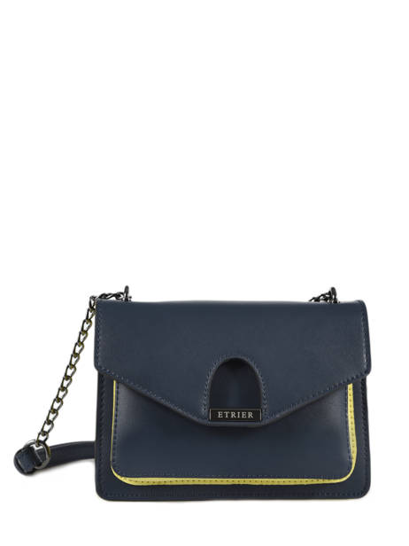 Crossbody Bag Escarpe Leather Etrier Blue escarpe EESC02