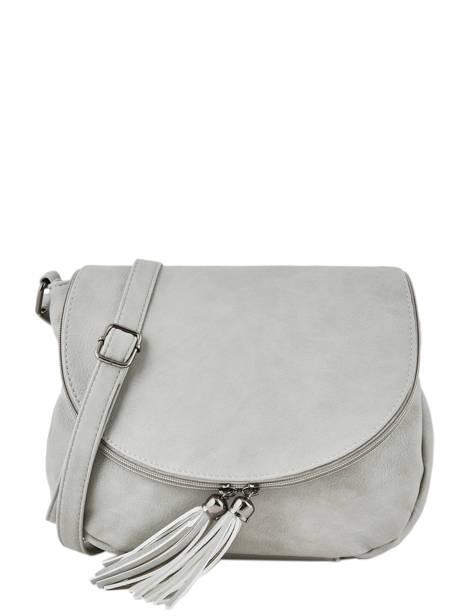 Shoulder Bag Pompon Miniprix Gray pompon F305