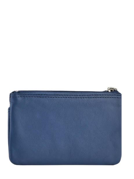 Porte-monnaie Cuir Petit prix cuir Bleu supreme FA213 vue secondaire 2
