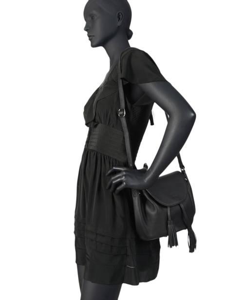 Shoulder Bag Evasion Leather Etrier Black evasion EEVA02 other view 2