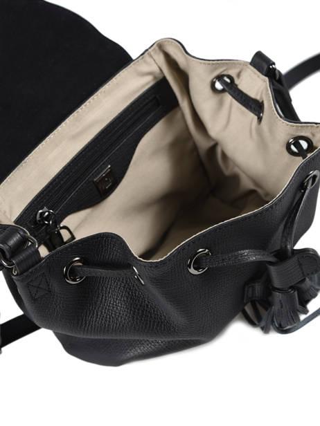 Shoulder Bag Evasion Leather Etrier Black evasion EEVA02 other view 4