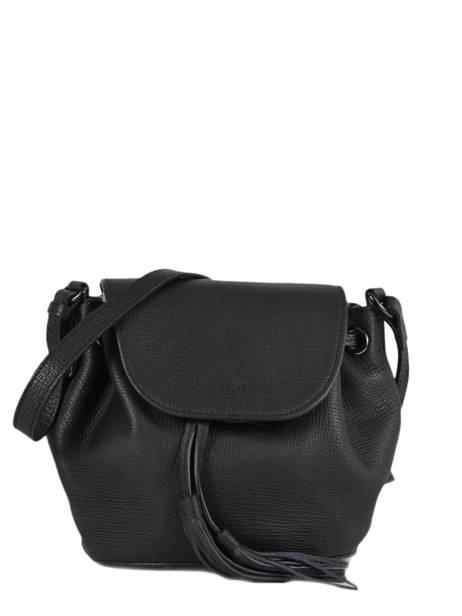 Shoulder Bag Evasion Leather Etrier Black evasion EEVA02