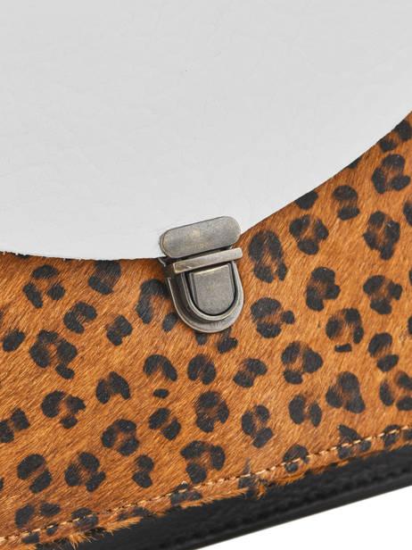 Sac Bandouliere Leopard Paul marius Noir leopard GEORGLEO vue secondaire 1