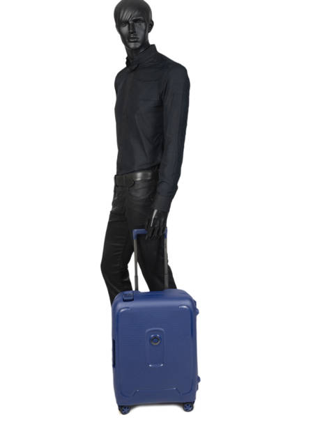 Cabin Luggage Delsey Blue moncey 3844803B other view 3