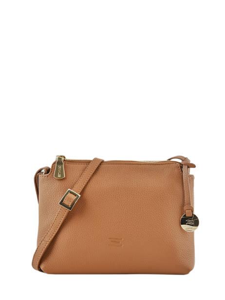 Crossbody Bag Leather Crinkles Brown 80897