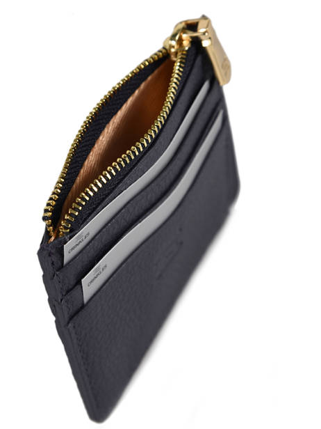 Leather Card Holder Crinkles Blue 14284 other view 1