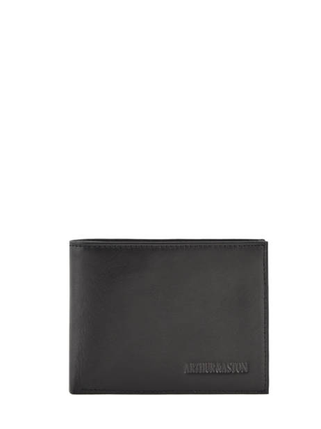 Wallet Leather Arthur et aston Black jasper 1589-499