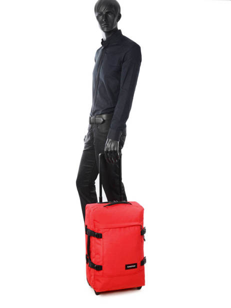 Cabin Luggage Softside Eastpak Red authentic luggage K61L other view 2
