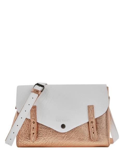 Shoulder Bag Vintage Leather Paul marius White vintage INDISPEN
