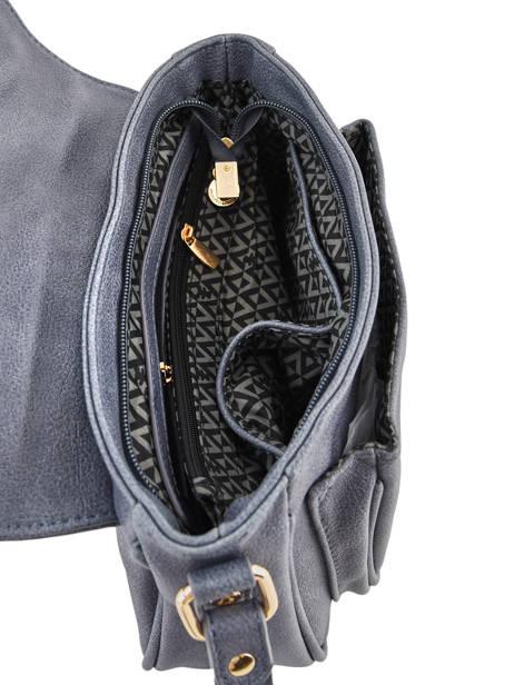 Sac Bandoulière Zip Lulu castagnette Bleu zip LABERT vue secondaire 4