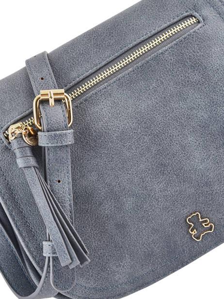 Sac Bandoulière Zip Lulu castagnette Bleu zip LABERT vue secondaire 1