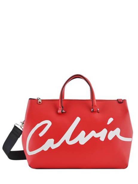 Sac à Main Denim Signature Calvin klein jeans Rouge denim K606575