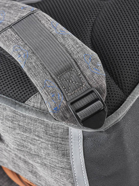 Satchel For Boys 2 Compartments Cameleon Gray vintage print boy VIB-CA35 other view 3