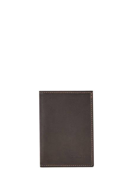 Leather Wallet Oil Etrier Brown oil EOIL942