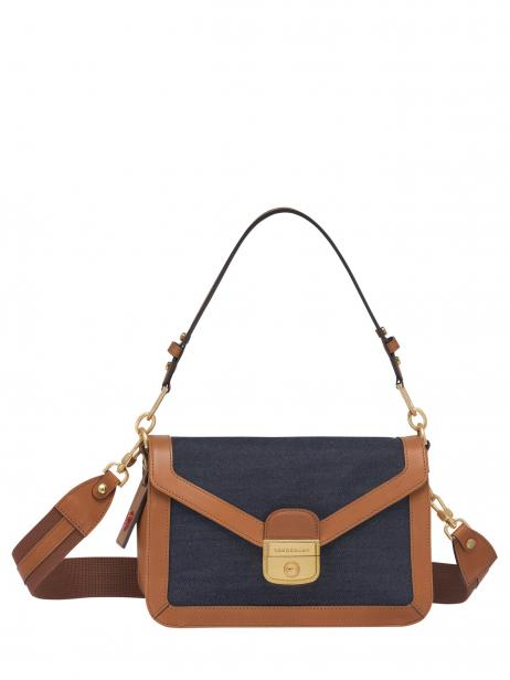 Longchamp Mademoiselle longchamp denim Hobo bag Blue