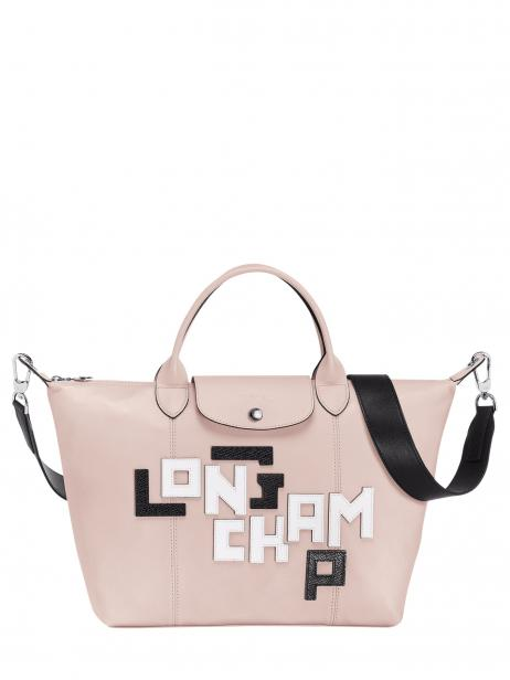 Longchamp Le pliage cuir lgp Handbag Pink