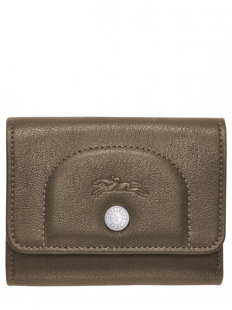Longchamp Le pliage cuir Porte billets/cartes Vert