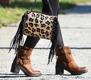 sac imprime leopard boots ecow
