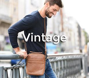 sacs cuir vintage homme