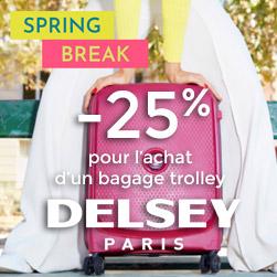 bagages delsey promotion